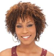 afro small curls hairstyle