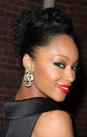 updo natural hairstyle