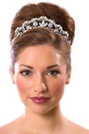 bun tiara hairstyle