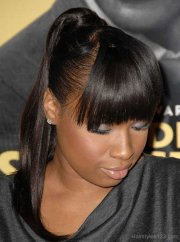 black ponytail hairstyles