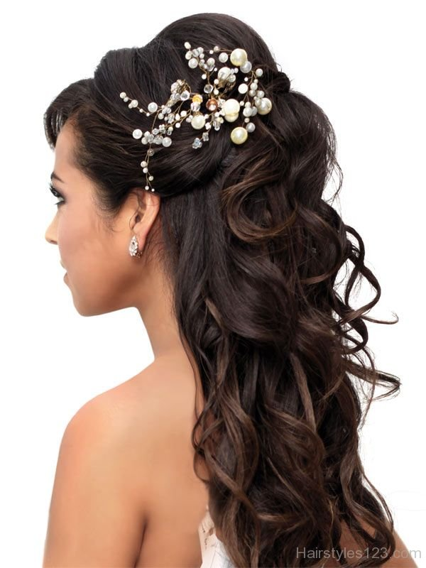 Prom Half Up Hairstyle