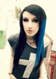 beautiful long emo hairstyle