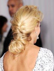 beautiful prom blonde braided hairstyle