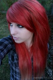 gorgeous emo hairstyle with colored