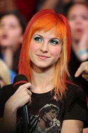 orange hairstyle