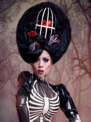 black gothic hairstyle
