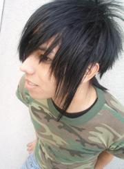 punk emo hairstyle