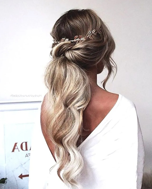 ponytail wedding hairstyles 2019 - hairstyles braided