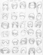 draw anime hairstyles