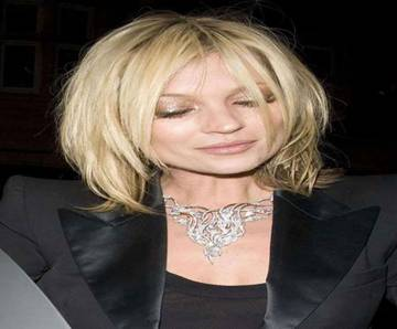 Medium Shag Layered Hairstyle By Kate Moss