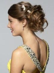 glam ponytail updo