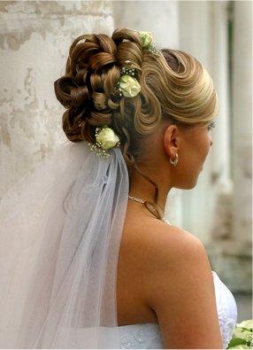 wedding updo style bun