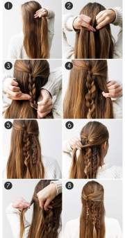 easy hairstyles long and medium