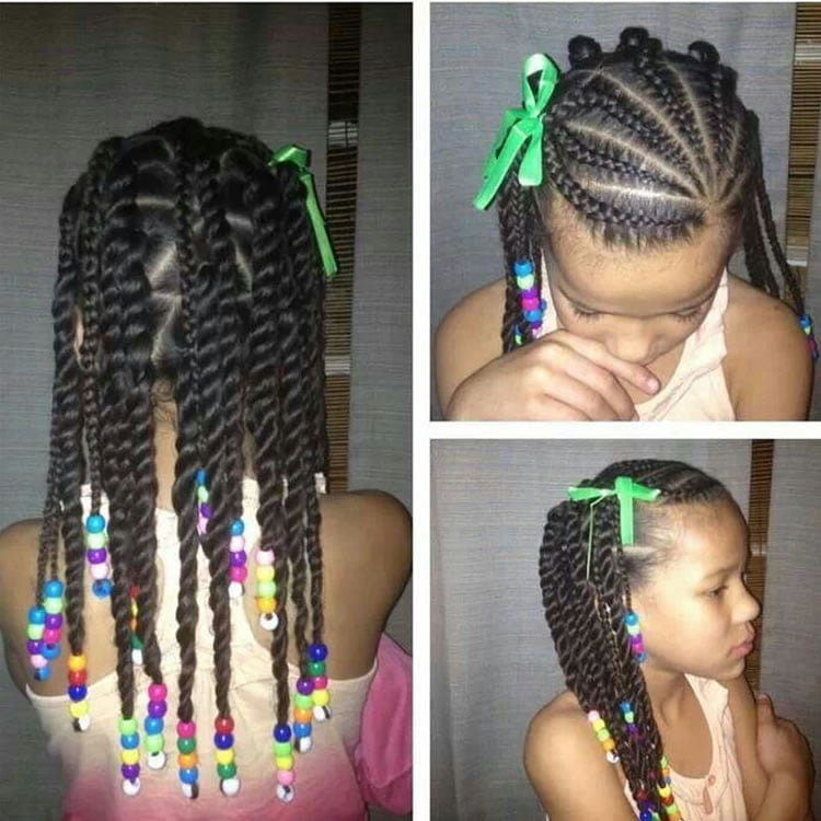 64 Cool Braided Hairstyles For Little Black Girls Page 7