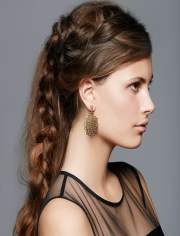 side braid hairstyles long
