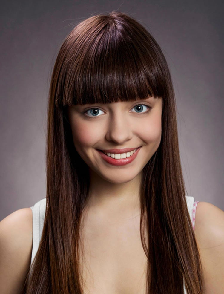 100 Cute Inspiration Hairstyles with Bangs for Long Round Square Faces  HAIRSTYLES