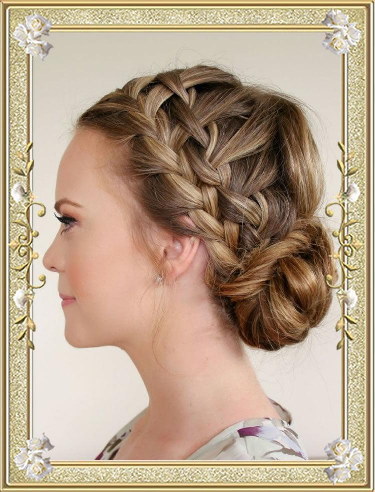 70 Best Braided Bun Hairstyles Tutorials For Face Shape