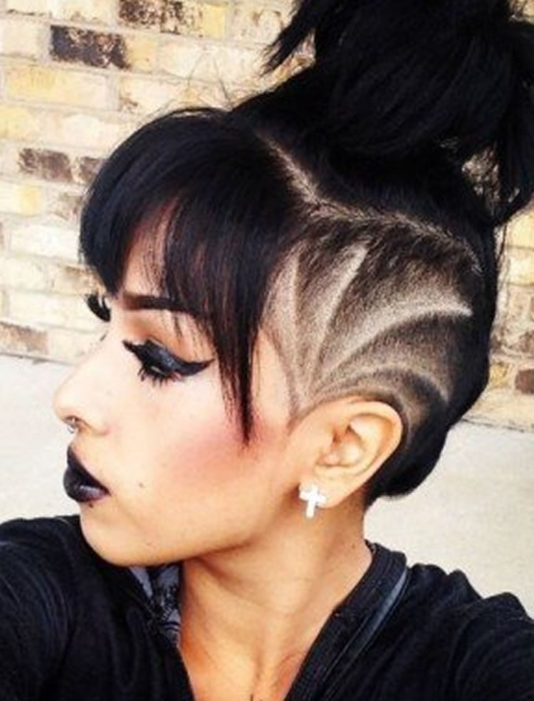 Undercut Hairstyle Ideas With Shapes For Womens Hair In
