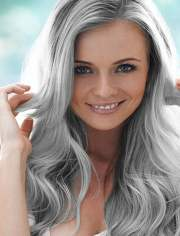 chic long layered grey hairstyles