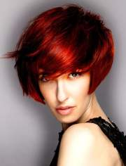 red hair color short hairstyles