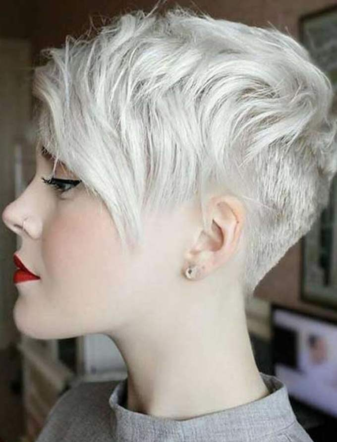 gray short hair pixie hairstyles for girls 2017-2018 – hairstyles