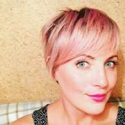 pink short hairstyles 2018