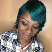chic highlights short hair