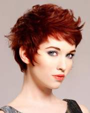 2018 red hairstyles short