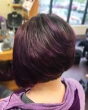 line bob haircuts & hair colors