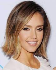 ombre colored short hairstyles