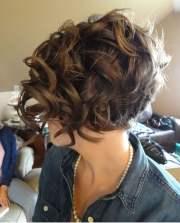 asymmetrical short curly hair styles