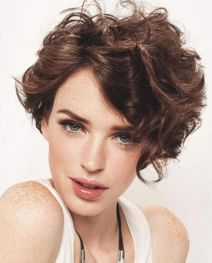 Image Result For Short Hairstyles For Round Faces Curly Hair