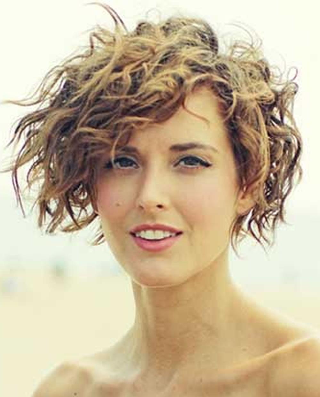 Asymmetrical Short Curly Hair Styles 2018