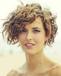 Asymmetrical Short Curly Hair Styles 2018