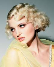 modern finger wave short bob
