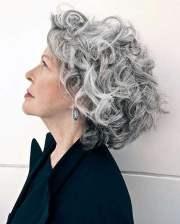 short gray hairstyles older