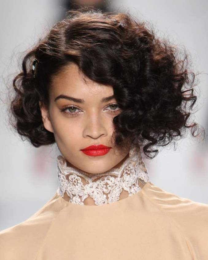 Image Result For Curly Hairstyles Short