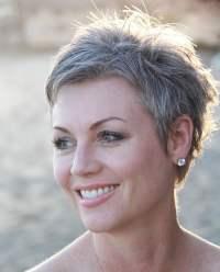Grey Pixie Hair Cut & Gray Hair Colors for Short Hair ...