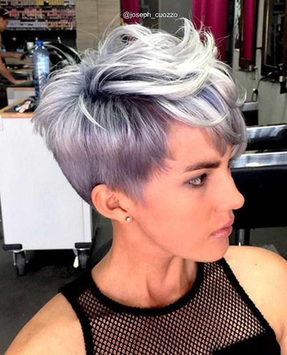 Gray Hair Colors For Short Hair Pixie And Bob Hairstyles