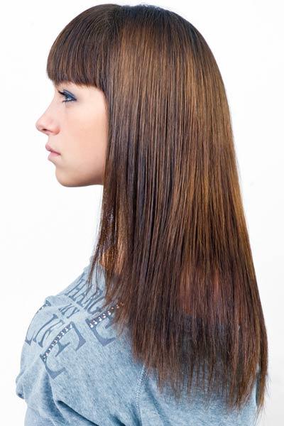U Shaped Back Long Hair Haircut From All Angles