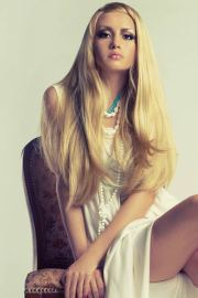 waist length hair