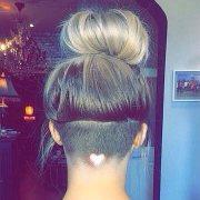heart-shaped hair design
