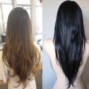 V Cut Hair Hairstyles For Women
