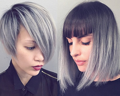 Hair Color Trend For Women Silver And Gray