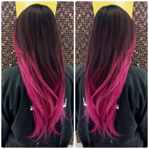 Hair Color Ideas Dip Dye Hair