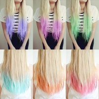 Hair Color Ideas: Dip Dye Hair