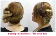tutorial running late hairstyles