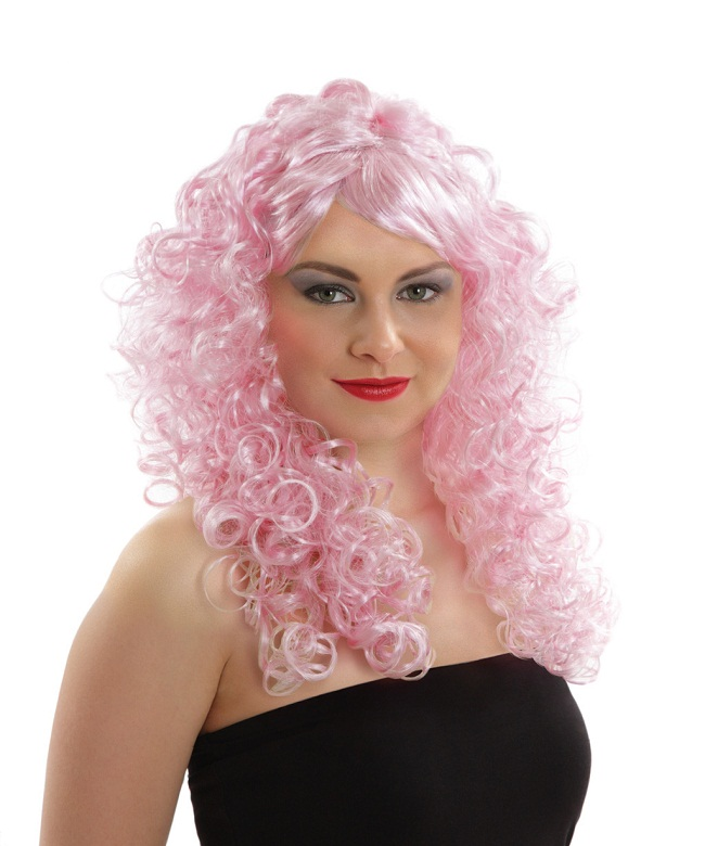 Pink Curly Wigs  HairTurners