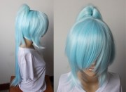 blue ponytail wigs hairturners