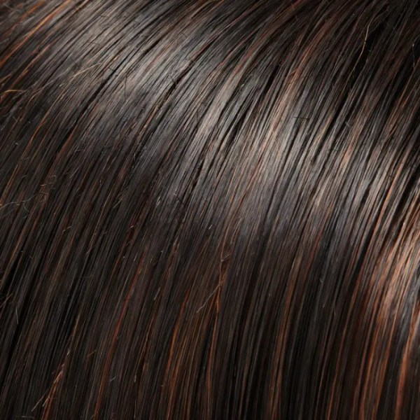 1BRH30 Mocha Truffle | Soft Black with 33% Med Natural Red Highlights